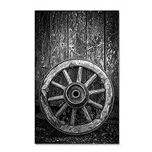 Trademark Fine Art The Old Wooden Wheel Artwork by Erik Brede, 16 by 24-Inch