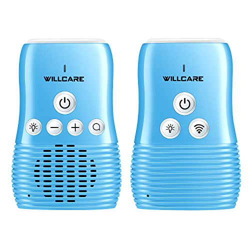 Willcare Upgraded DBM-8 Baby Monitor with Two-Way Audio, Smooth Night Light, Rechargeable Battery Operated Parent Unit & Long Range, DBM-8 2.0. (Blue) - Baby Monitor Intercom