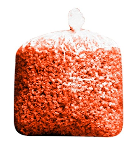 Super Big Game Football NFL New England Patriots Bulk Christmas Valentines Day Red Colored Butter Popcorn Bulk Party Bag (175 Cups per Case) (Red)