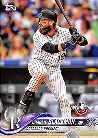 Amazoncom 2018 Topps Opening Day 161 Charlie Blackmon Colorado