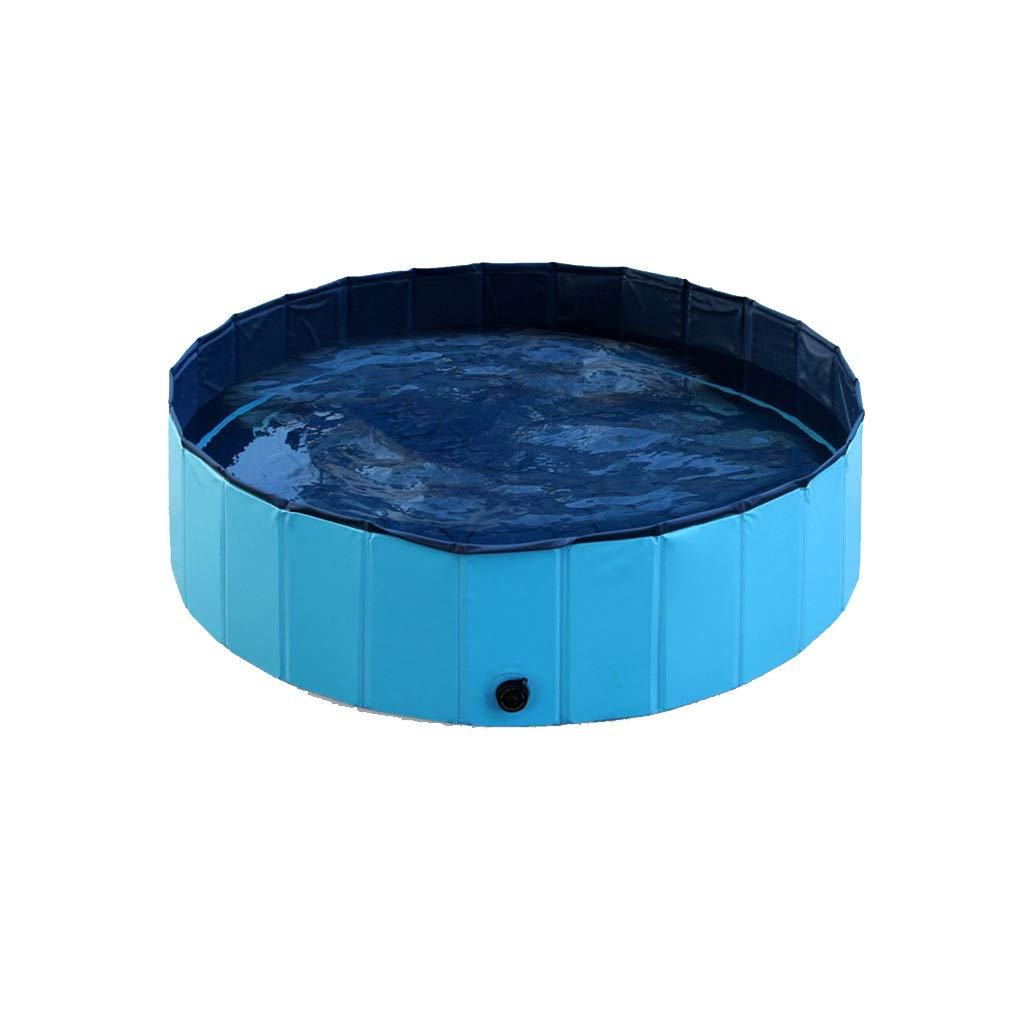 bluee 8020cm bluee 8020cm JZMAI Pet Pool Bathtub PVC Foldable Dog Cat Bathtub Suitable For Medium And Large Pets Indoor And Outdoor Use Red 160 120 80CM (color   bluee, Size   80  20cm)