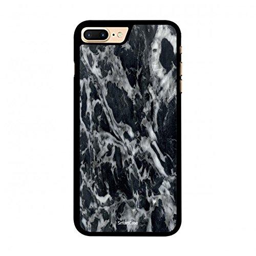 Coque + Verre Trempé pour iPhone 7 Plus SmartCase® motif marbre bleu nuit