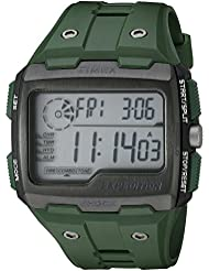 Timex Mens TW4B02600 Expedition Grid Shock Green Resin Strap Watch