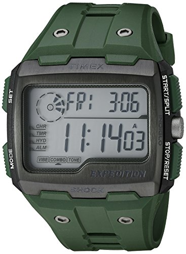 Timex Men's TW4B02600 Expedition Grid Shock Green Resin Strap (Resin Expedition Watch)