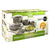 The Original Green Pan Healthy Ceramic Non-Stick Cookware Set 10 Pc