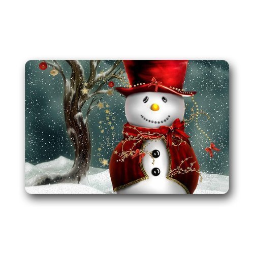 Heymat Christmas Snowman Doormat Outdoors/Indoor Machine Washable Home Floor Mats Rugs 23.6 x 15.7 Inches (Outdoor Christmas Rugs)
