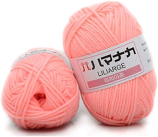 MXECO 4 acciones Leche peinada Hilo de algodón Lana cómoda Hilo ...