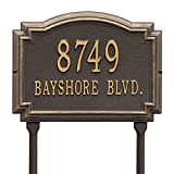 Williamsburg Two-Line Address Marker Sign for Lawn