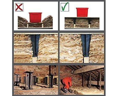 loft legs raised storage boarding stilts loftlegs 84 Loft insulation spacer
