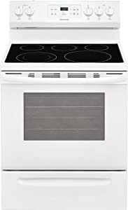 Frigidaire FFEF3054TW 30 Inch Electric Freestanding Range with 5 Elements, Smoothtop Cooktop, Storage Drawer, 5.3 cu. ft. Primary Oven Capacity, in White