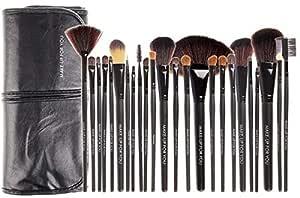 Professional 24 Pcs Makeup Brush Set Kit - Black