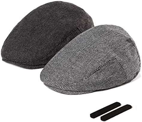 2511b893 LADYBRO Men Newsboy Cap Ivy Hat - 30% Wool Cabbie Hats for Men Irish Tweed