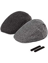 17c135ff Men Newsboy Cap Ivy Hat - 30% Wool Cabbie Hats for Men Irish Tweed Flat
