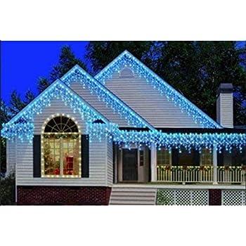 Amazon Com 300 Blue Leds Twinkle Icicle Light String Set