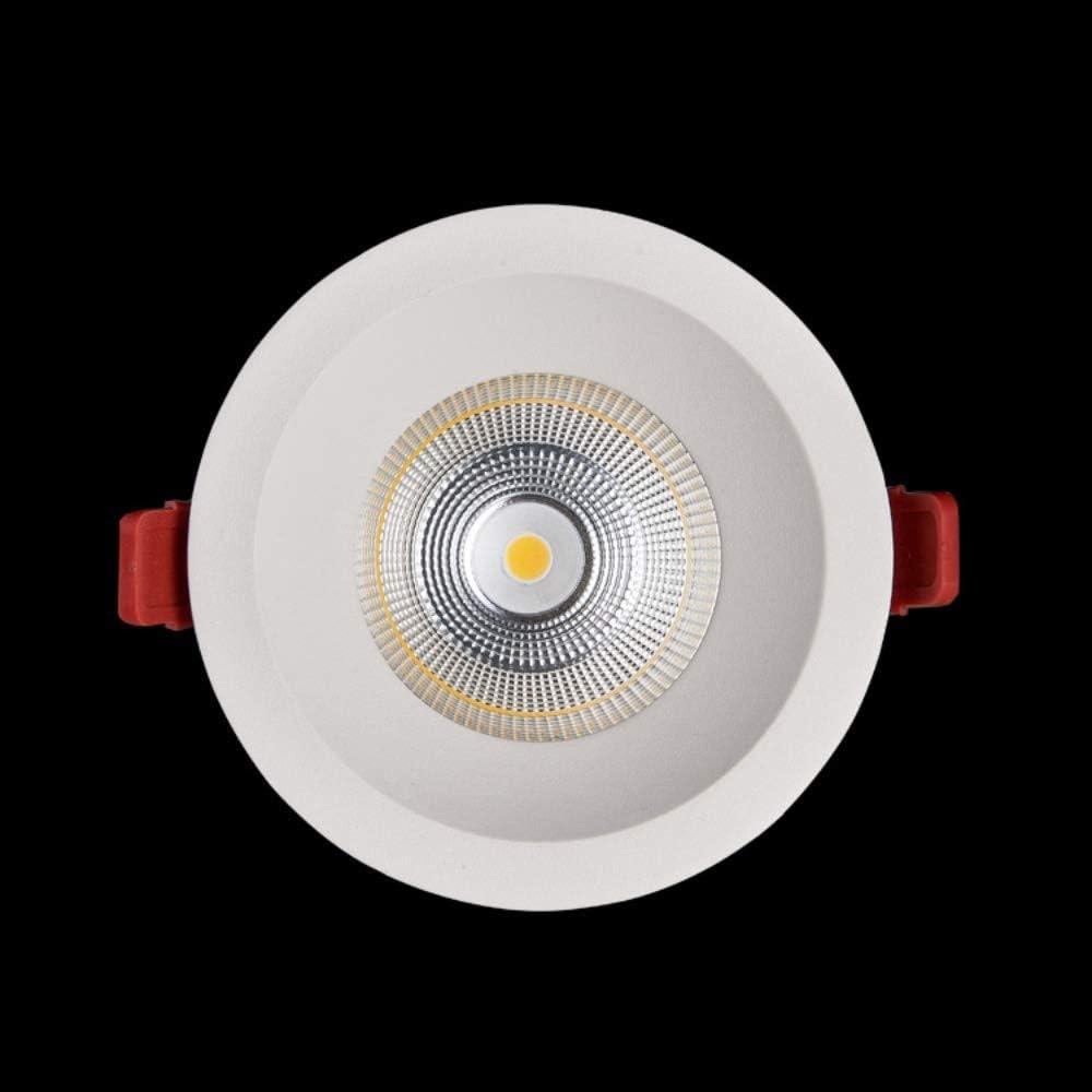 60 Grad Abstrahlwinkel Blendfrei COB Downlight CRI90 IP20 Home Indoor Deckeneinbauleuchte 75LM / W Weiß Runde Supermarkt Gewerbebeleuchtung LED Einbaustrahler 3000k