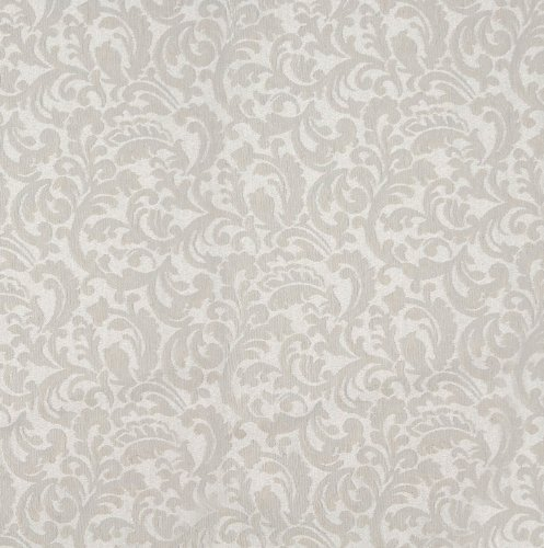 Abstract Damask Pearl - Pearl Classic White Foliage Abstract Geometric Heirloom Vintage Damask Jacquard Upholstery Fabric by the yard