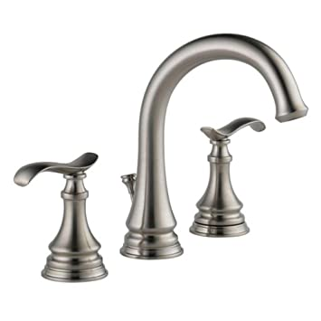 delta 35730lfsp kinley widespread bathroom faucet