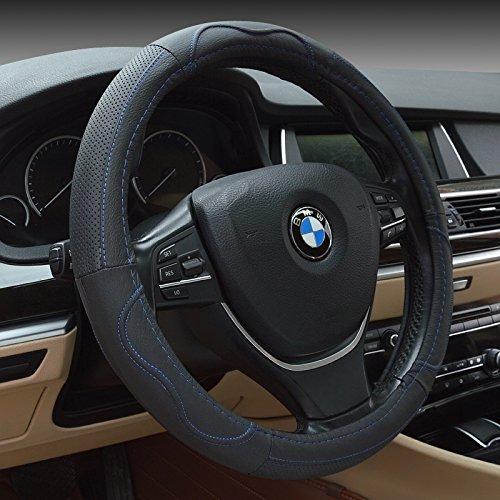 Vera Pelle 15 HCMAX Premio Veicolo Coprivolante Auto Protezione del Volante Universale Diametro 38 cm