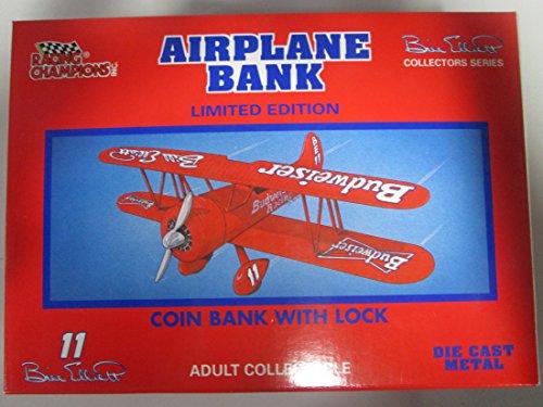 1993 Bill Elliott 11 Budweiser Racing Airplane Bank from Racing Champions