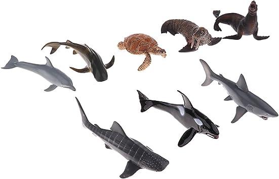 Modèle Plastique Mer Animal Océan Figurine Solide Requin Baleine Décoration