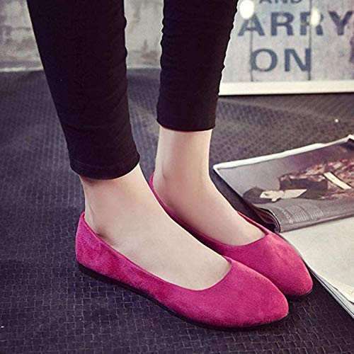 Boomboom Simple Style Women Flat Sandals Casual Shoes Hot Pink US 8.5]()