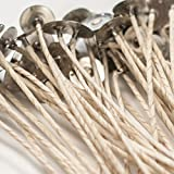 ECO 14 - NATURAL COTTON CANDLE WICK - 8'' - 100 PCS. - BY VIRGINIA CANDLE SUPPLY