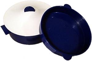 Tupperware CrystalWave Microsteamer Microwave Steam Cooker & Colander in Sapphire Blue (9 cup capacity)