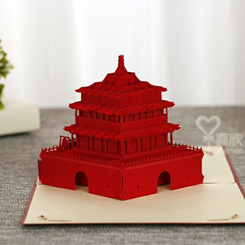 3D Pop Up Cards Creative Paper craft Greeting Cards for Every Occasion (Xian Bell - Bell The Tower Shops
