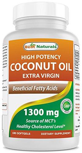 Best Naturals Coconut Oil 1300 mg 180 (Best Naturals Coconut Oils)