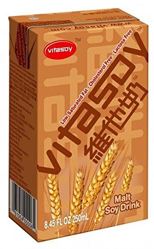 Vitasoy Soy Milk Drink, Malt Flavor, 8.45oz (Pack of 24) by Vitasoy