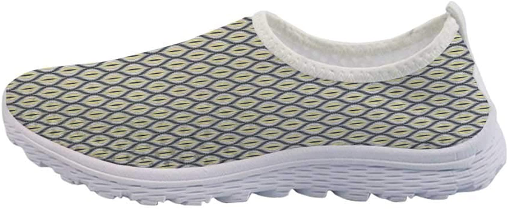 Amazon Com Ikat Mesh Sneakers Running Shoes Ogee Pattern In