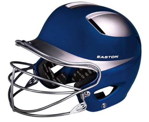 - Easton Natural Two-Tone Junior Batting Helmet with Mask, Royal/Silver