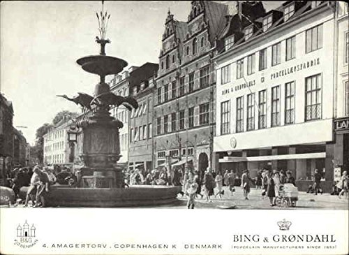 Grondahl Porcelain (Bing & Grondahl - Porcelain Manufacturers Copenhagen, Denmark Original Vintage Postcard)