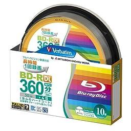 10 Verbatim Original Spindle Pack 50 GB BD-R DL Dual Layer Printable Discs