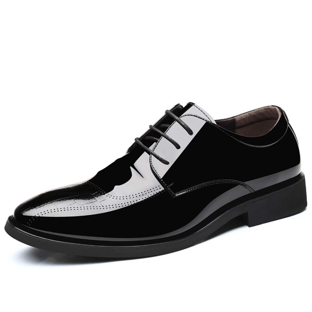 JIALUN-Schuhe Herren Simple Business Oxford Casual Schnür-Stil Schnür-Stil Schnür-Stil und Fuß Stil Lackleder Formelle Schuhe (Farbe   Lace braun, Größe   43 EU)  5c7af6