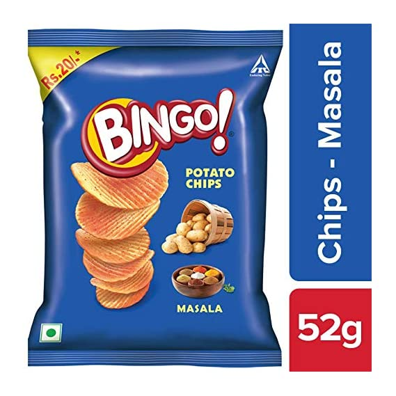 Bingo Potato Chips Masala, 52 g