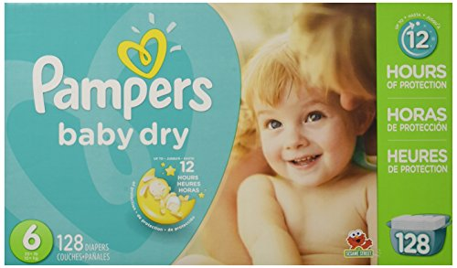 Pampers Baby Dry Diapers Size 6,...