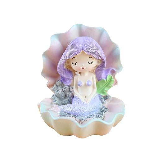 Figura decorativa de sirena para tarta de cumpleaños, color ...