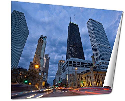 Ashley Giclee Fine Art Print, Michigan Avenue In Chicago, 16x20, - Buy Best Michigan Avenue Chicago
