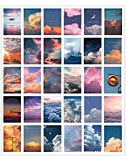 Wall collage kit aesthetic pictures photo teen girls bedroom dorm apartment cute decorations Card postcard wall collage kit 30 Set 3.85 x 5.7 inch