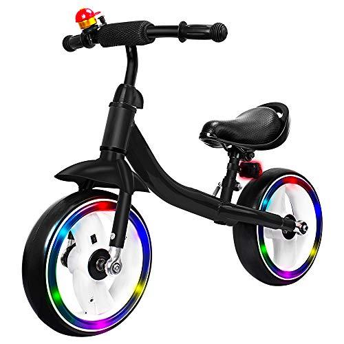 - Verkstar Kids Balance Bike No Pedal Walking Sport Bicycle, Adjustable Training Toddler Bike for 2 to 6 Year Old Boys & Girls (Black)