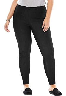 698c1b3d2ad Woman Within Plus Size Tall Stretch Cotton Legging at Amazon Women s ...