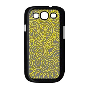 Samsung Galaxy S3 9300 Cell Phone Case Black Yellow Doodles LSO7897819