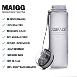 MAIGG-Best-Sports-Water-Bottle-17oz-32oz-Eco-Friendly-BPA-Free-Plastic-Fast-Water-Flow-Flip-Top-Opens-With-1-Click-Reusable-with-Leak-proof-Lid