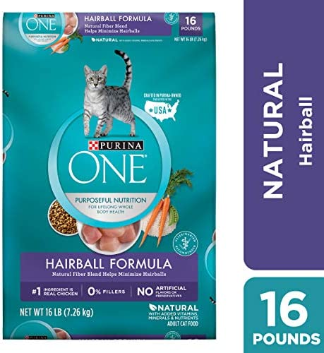 Purina ONE Hairball Formula Adult Dry Cat Food 2