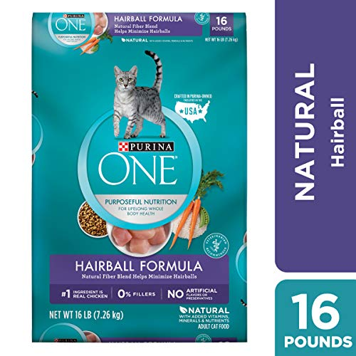 Purina ONE Hairball, Natural Dry Cat Food; Hairball Formula - 16 lb. Bag