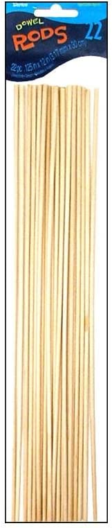 Darice 9162-01 Unfinished Natural Wood Craft Dowel Rod, 1/8-Inch