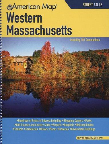 American Map: Western Massachusetts Street Atlas