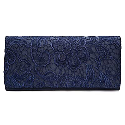 Chichitop Women's Elegant Floral Lace Evening Party Clutch Bags Bridal Wedding Purse Handbag