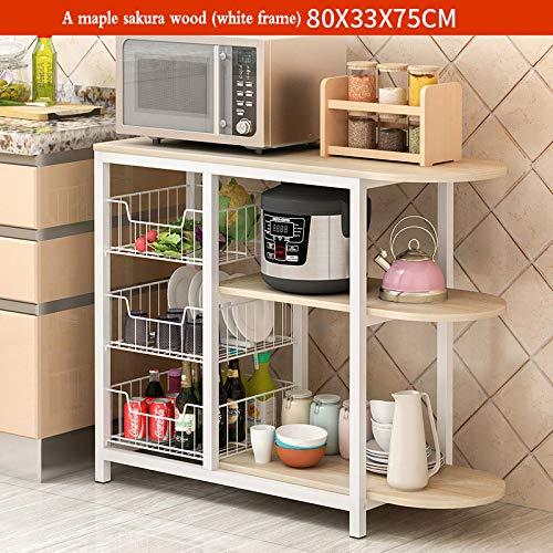 YXLYLL - Estante de Cocina para microondas, Estante de Cocina y ...